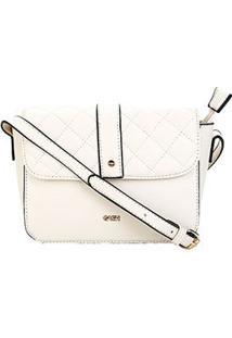 Bolsa Gash Mini Bag Matelassê Feminina - Feminino-Off White