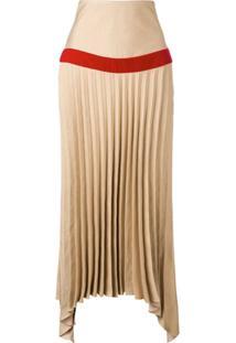 Atu Body Couture Saia Assimétrica Com Pregas - Marrom