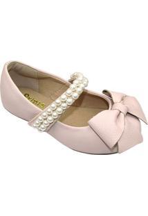 Sapato Boneca Com Laã§O & Pedrarias- Rosa Claroprints Kids
