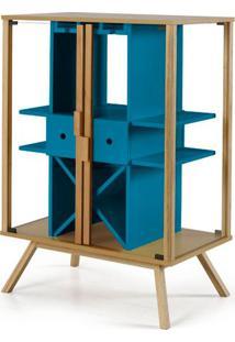 Cristaleira Mystic Cor Natural Com Azul - 28830 - Sun House