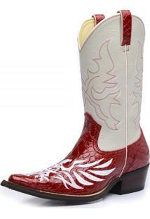 Bota Top Franca Shoes Country Vermelho