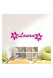 Adesivo De Parede Cartelas Infantil Flores 02 - G 100X45Cm