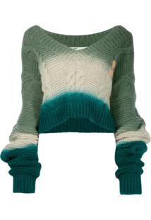 Off-White Suéter Clássico - Azul