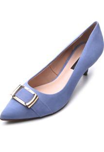 Scarpin Jorge Bischoff Salto Azul - Azul - Feminino - Dafiti