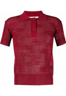 Courrèges Camisa Polo Slim - Vermelho