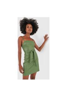 Vestido Colcci Curto Resinado Verde