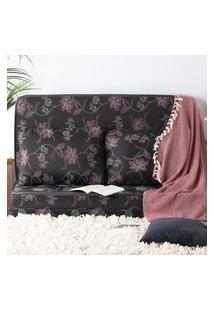 Puff Luxo Com Travesseiro Fibras Siliconadas 100% Algodáo Antialérgico Multiuso 3 Em 1 Estampado At.Home