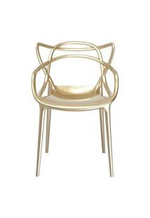 Cadeira Master Allegra Polipropileno Champagne - 26409 Preto