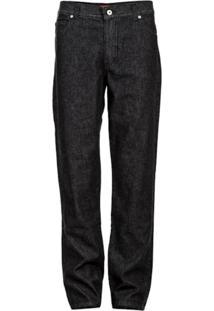 Calça Versatti Jeans Tradicional Reta Preta