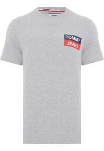 Camiseta Masculina Sleeve Graphic - Cinza