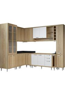 Cozinha Compacta Multimóveis Sicília 5804.132.131.815.610 Argila Branco Se