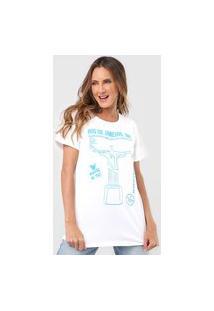 Camiseta Mercatto Rio De Janeiro Branca/Azul