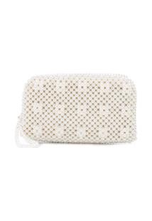 Shrimps Bolsa Clutch 'Molly' - Branco