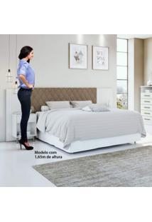 Cabeceira Extensível Casal E Queen 2 Criados Mudos Stylus Plus Móveis Lopas Branco