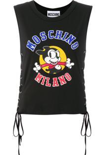 ... Moschino Regata Estampa  Vintage Mickey  - Preto 71d662eb948