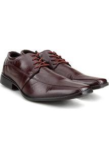 Sapato Social Couro Walkabout Bico Quadrado - Masculino-Café