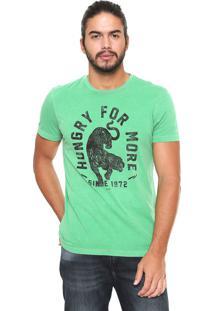 Camiseta Ellus Vintage Hun Verde