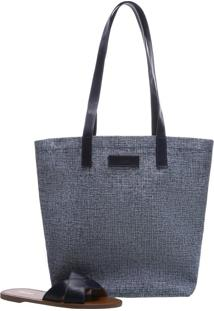 c0d5c9b4d ... [Kit] Bolsa Shopping Tecido Toledo Grande Blue Mist | Arezzo