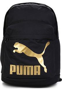 Mochila Puma Originals - Unissex-Preto