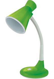 Luminária De Mesa Taschibra Tlm03 E27 Articulável Bivolt Verde
