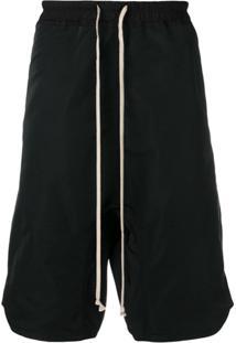 Rick Owens Drop-Crotch Shorts - Preto