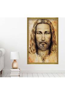 Quadro Love Decor Com Moldura Jesus Dourado Grande