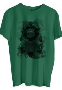 Camiseta Masculina Joss Estampada Astro Verde Musgo
