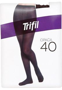 Meia Calça Trifil Opaca - Feminino-Marrom