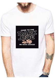 Camiseta Coolest Dark Side Cockies Masculina - Masculino-Branco