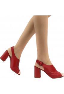 Sandalia Zariff Shoes Casual Recorte V Em Couro Atanado