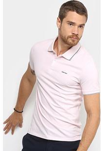 Camisa Polo Calvin Klein Slim Masculina - Masculino-Rosa