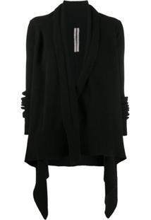 Rick Owens Draped Knitted Jacket - Preto