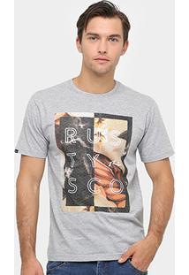 Camiseta Rusty Borders Masculina - Masculino