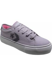 Tênis Converse All Star Star Replay Platform Ox Cinza Ametista Co02920002 - Tricae