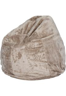 Puff Soft Pelúcia Camel
