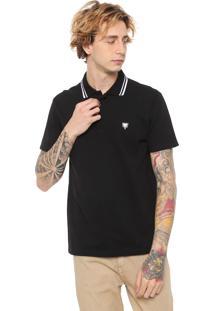 Camisa Polo Cavalera Stripes Preta