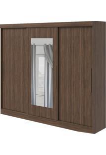 Guarda-Roupa Montebello Com Espelho - 3 Portas - Imbuia Naturale