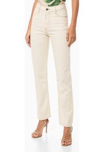 Calça Jeans Straight High Recor Frente - Off-White - 36