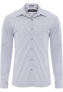 Camisa Masculina Chobe Dobby Classic Staight Padrão - Cinza