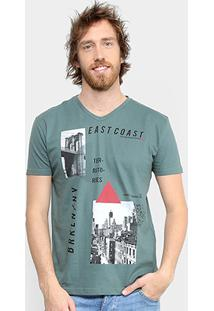 Camiseta Tigs Estampada Eastcoast Masculina - Masculino-Verde Militar