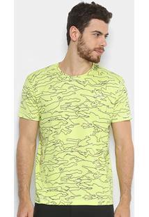 Camiseta Oakley Camuflada Highline Camo Tee Masculina - Masculino