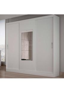Guarda-Roupa Casal Ônis 3 Portas C/ Espelho – Novo Horizonte - Branco