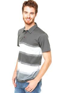 Camisa Polo Billabong Mix Up Ss Cinza
