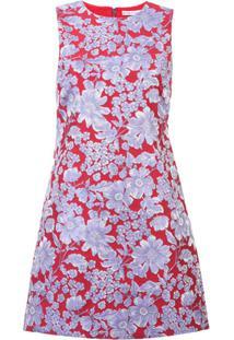 Alice+Olivia Vestido Com Estampa Floral - Vermelho