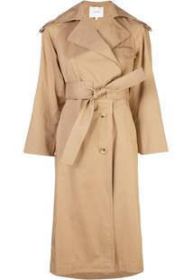 Vince Trench Coat Com Cinto - Neutro