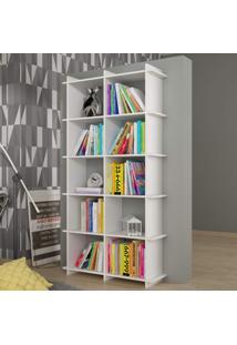 Estante Para Livros Bx 0106 Encaixe Moderno Brv Móveis Branco