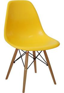 Cadeira Eames Dkr - Amarela & Bege - 80,5X46,5X42Cm