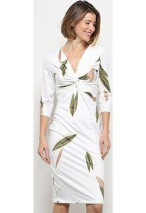 Vestido Lança Perfume Descolado Nó - Feminino-Branco