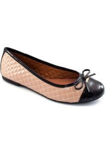 Sapatilha Cap Toe Em Verniz Sapato Show 10230 - Feminino