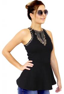 Blusa Dress Code Moda Justa Preta